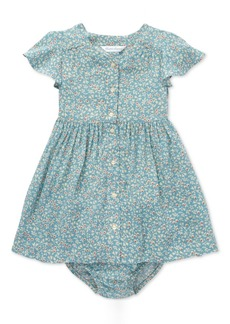 Ralph Lauren: Polo Polo Ralph Lauren Baby Girls Shirred Floral-Print Dress