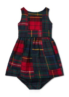Ralph Lauren: Polo Polo Ralph Lauren Baby Girls Tartan Patchwork Cotton Dress