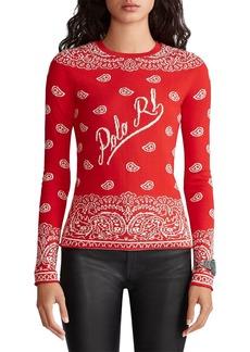 Ralph Lauren: Polo Polo Ralph Lauren Bandanna Crewneck Sweater
