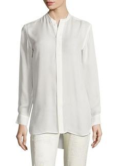 Ralph Lauren: Polo Polo Ralph Lauren Banded Collar Silk Shirt