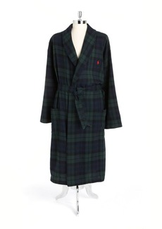 193259af649 Ralph Lauren Polo Polo Ralph Lauren Belted Plaid Cotton Robe
