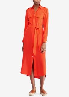Ralph Lauren: Polo Polo Ralph Lauren Belted Silk Shirtdress
