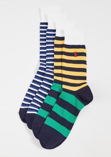 Ralph Lauren Polo Polo Ralph Lauren Bermuda Stripe Slack Socks 2 Pack