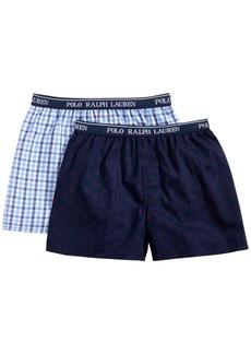 Ralph Lauren: Polo Polo Ralph Lauren Big Boys 2-pk. Printed Cotton Boxers
