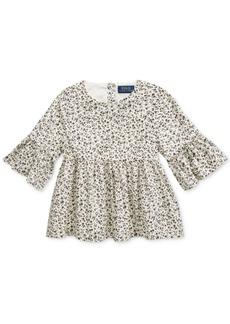Ralph Lauren: Polo Polo Ralph Lauren Toddler Girls Bell-Sleeve Cotton Batiste Top