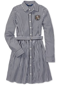 Ralph Lauren: Polo Polo Ralph Lauren Big Girls Bengal-Striped Cotton Shirtdress