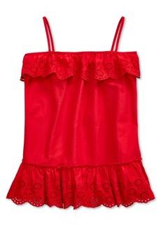 Ralph Lauren: Polo Polo Ralph Lauren Big Girls Cotton Bastiste-Eyelet Shirt