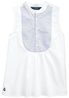 Ralph Lauren: Polo Polo Ralph Lauren Big Girls Cotton Broadcloth Bib Shirt