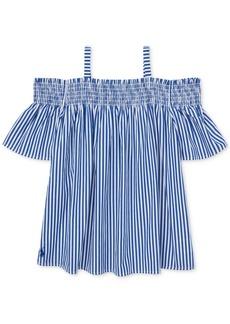 Ralph Lauren: Polo Polo Ralph Lauren Big Girls Cotton Off-The-Shoulder Top