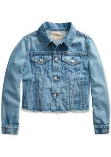 Ralph Lauren: Polo Polo Ralph Lauren Big Girls Denim Polo Jacket