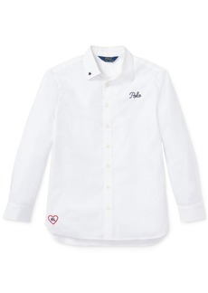 Ralph Lauren: Polo Polo Ralph Lauren Big Girls Embroidered Cotton Shirt