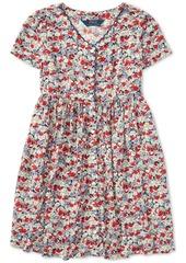 Ralph Lauren: Polo Polo Ralph Lauren Big Girls Floral Button-Front Dress