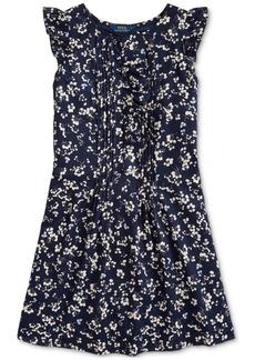 Ralph Lauren: Polo Polo Ralph Lauren Big Girls Floral Cotton Dobby Dress