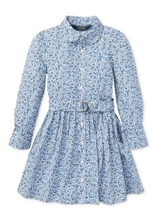 Ralph Lauren: Polo Polo Ralph Lauren Big Girls Floral Cotton Shirtdress