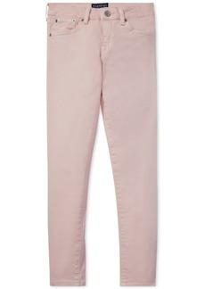 Ralph Lauren: Polo Polo Ralph Lauren Big Girls Pink Pony Cotton Skinny Jeans