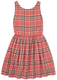 Ralph Lauren: Polo Polo Ralph Lauren Big Girls Plaid Cotton Fit & Flare Dress