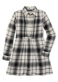 Ralph Lauren: Polo Polo Ralph Lauren Big Girls Plaid Cotton Twill Shirtdress