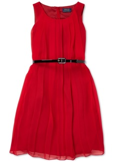 Ralph Lauren: Polo Polo Ralph Lauren Big Girls Pleated Chiffon Dress