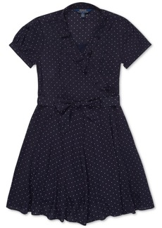 Ralph Lauren: Polo Polo Ralph Lauren Big Girls Polka-Dot Ruffled Crepe Dress