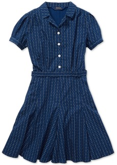 Ralph Lauren: Polo Polo Ralph Lauren Big Girls Printed Cotton Poplin Dress