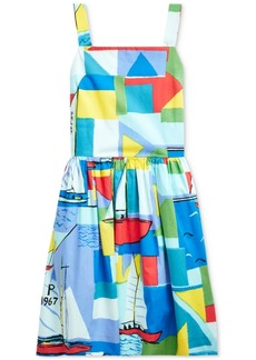 Ralph Lauren: Polo Polo Ralph Lauren Big Girls Sailboat-Print Cotton Dress