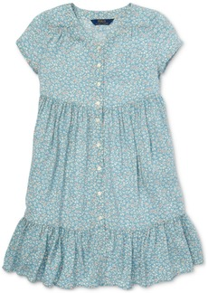 Ralph Lauren: Polo Polo Ralph Lauren Big Girls Shirred Floral-Print Dress
