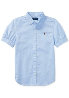 Ralph Lauren: Polo Polo Ralph Lauren Big Girls Solid Oxford Top