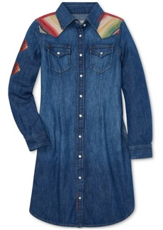 Ralph Lauren: Polo Polo Ralph Lauren Big Girls Southwestern Cotton Denim Dress