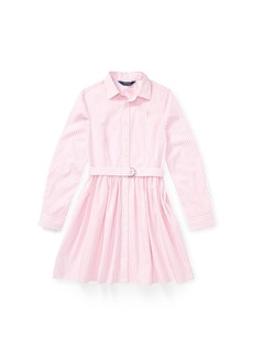 Ralph Lauren: Polo Polo Ralph Lauren Big Girls Striped Cotton Shirtdress