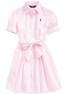 Ralph Lauren: Polo Polo Ralph Lauren Big Girls Striped Cotton Shirtdress, Created for Macy's
