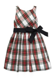 Ralph Lauren: Polo Polo Ralph Lauren Big Girls Tartan Fit & Flare Dress
