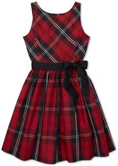 Ralph Lauren: Polo Polo Ralph Lauren Big Girls Tartan Fit & Flare Dress