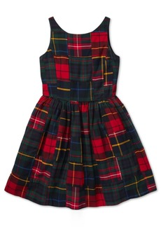 Ralph Lauren: Polo Polo Ralph Lauren Big Girls Tartan Patchwork Cotton Dress