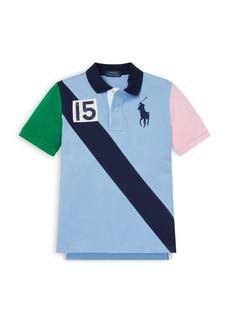 Ralph Lauren: Polo Polo Ralph Lauren Boys' Colorblocked Mesh Polo Shirt - Big Kid