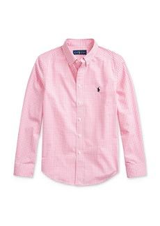 Ralph Lauren Polo Polo Ralph Lauren Boys' Cotton Stretch Gingham Check Button-Down Shirt - Big Kid