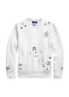 Ralph Lauren Polo Polo Ralph Lauren Boys' Embroidered Sweater - Big Kid