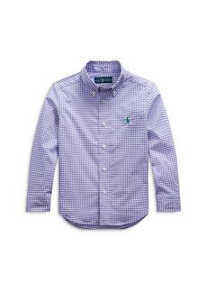 Ralph Lauren: Polo Polo Ralph Lauren Boys' Gingham Button Down Shirt - Little Kid