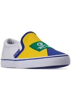 Ralph Lauren: Polo Polo Ralph Lauren Boys' Landyn Slip-On Casual Sneakers from Finish Line
