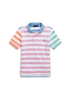Ralph Lauren: Polo Polo Ralph Lauren Boys' Multi Color Striped Polo Shirt - Little Kid