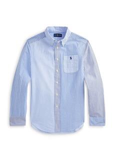 Ralph Lauren: Polo Polo Ralph Lauren Boys' Multi Striped Seersucker Shirt - Big Kid