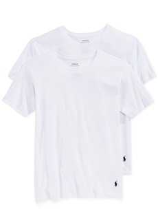 Ralph Lauren: Polo Polo Ralph Lauren 2-Pk. Crew-Neck Undershirts, Big Boys