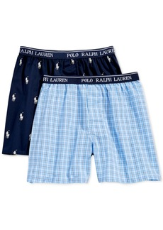 Ralph Lauren: Polo Polo Ralph Lauren 2-Pk. Printed Boxers, Little Boys & Big Boys