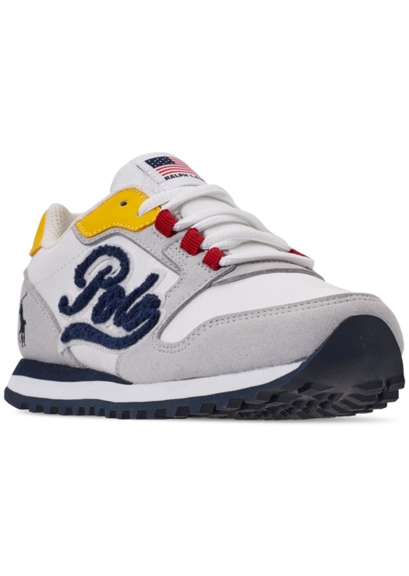Ralph Lauren: Polo Polo Ralph Lauren Boys' Oryion Script Casual Sneakers from Finish Line