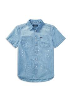 Ralph Lauren Polo Polo Ralph Lauren Boys' Paint Splatter Chambray Shirt - Big Kid