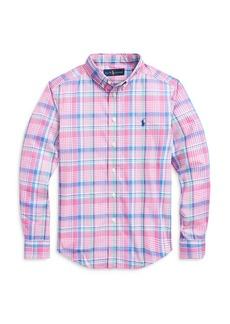 Ralph Lauren: Polo Polo Ralph Lauren Boys' Plaid Button-Down Shirt - Big Kid