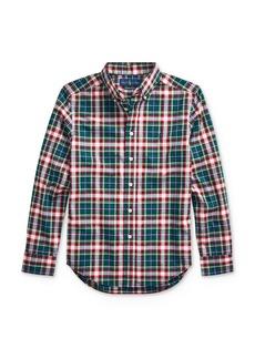 Ralph Lauren Polo Polo Ralph Lauren Boys' Plaid Poplin Button-Down Shirt - Big Kid
