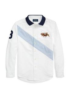Ralph Lauren: Polo Polo Ralph Lauren Boys' Polo Collar Oxford Shirt - Big Kid
