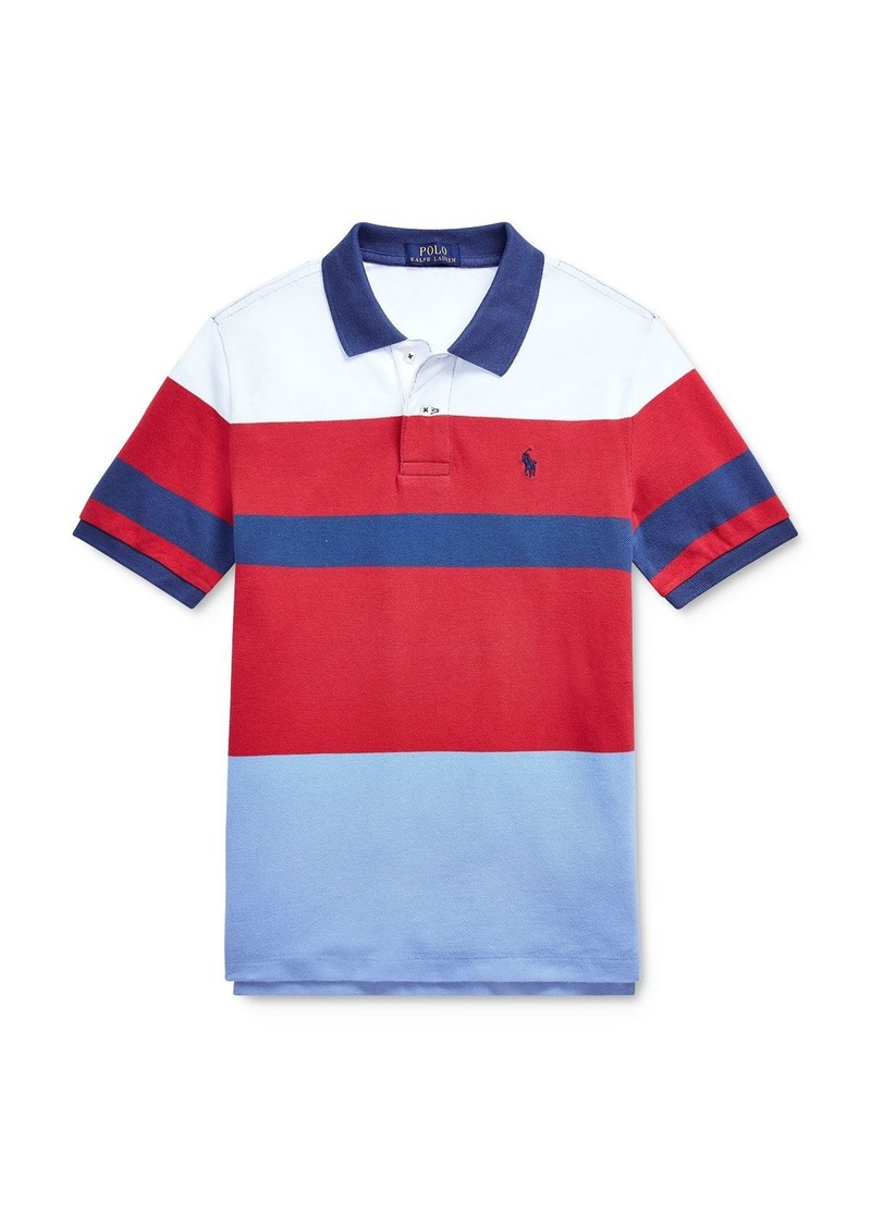 Ralph Lauren Polo Polo Ralph Lauren Boys' Striped Color-Block Polo Shirt - Big Kid