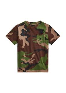 Ralph Lauren: Polo Polo Ralph Lauren Boys' Washed Camouflage Pocket Tee - Big Kid