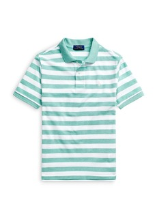 Ralph Lauren: Polo Polo Ralph Lauren Boys' Wide Striped Mesh Polo Shirt - Big Kid